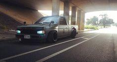 Mini Truck!!  @nivek_sqd #MannyPostMyShit #UseMyHashtagToGetYourRidePosted #TagMe Nissan Vans, Nissan Trucks, Drift Truck, Nissan Hardbody, S10 Blazer, Nissan Infiniti, Sea To Shining Sea, Mini Trucks, Toyota Hilux