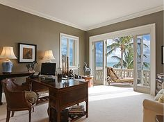 Palm tree oasis right outside your office door! #work #home