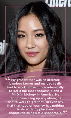 """Or when she talked the importance of embracing her identity in her work:   11 Super Inspiring Quotes From """"Fresh Off The Boat's"""" Constance Wu"""