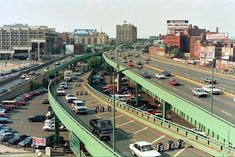 Interstate 93 in Boston, MA, looking North towards the old Boston Garden (center left building) The old Garden demolition began on 26 SEP The overpasses were replaced by tunnels circa Boston Strong, In Boston, Boston Map, Boston Architecture, Boston Garden, New England States, New Bedford, Boston Sports, Boston Massachusetts