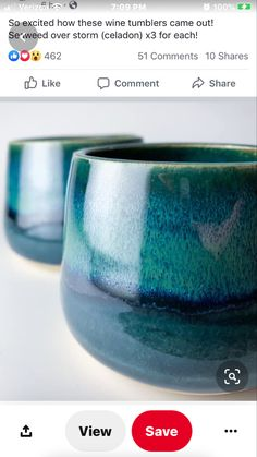 Glazes For Pottery, Pottery Bowls, Ceramic Pottery, Amaco Glazes, Wine Tumblers, Color Tile, Clay Projects, Stoneware, Ceramics