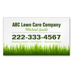 Free landscaping business card template psd free business card lawn care landscaping services green grass style business card magnet businesscard bizcard modern reheart Choice Image