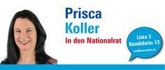 """""""Oberstes Ziel liberaler Politik ist die Stärkung der individuellen Freiheit. Die Ausbildung künftiger Generationen und die Stärkung der Grundlagenforschung und des Forschungsstandorts Schweiz sind die Basis für eine weiterhin erfolgreiche und innovative Schweiz."""" http://priscakoller.wahlenzuerich.ch"""