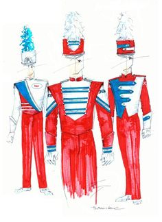 buRed-ColumbiaBlueTrio Band Uniforms, Columbia Blue, Ronald Mcdonald, Red, Rouge