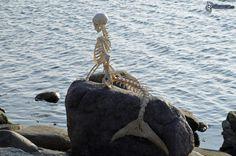 скелет русалки