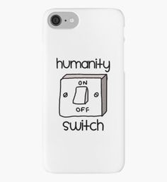 Humanity switch Vinilo o funda para iPhone