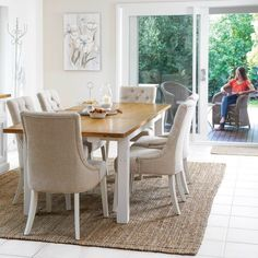 Tuscan 1800/2300 Large Extension Package with Gallery Chairs (Table: 1800/2300W X 1000D x 780H mm; Chairs: 560W X 660D X 990H mm) RRP $1,945