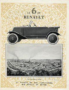 catalogue literature brochure RENAULT avant guerre prewar