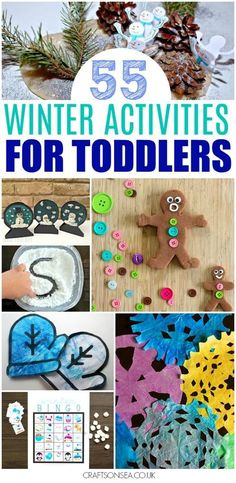 Over 50 fantastic winter activities for toddlers to try this year with inspitration for winter crafts, winter sensory play ideas and easy winter activities.