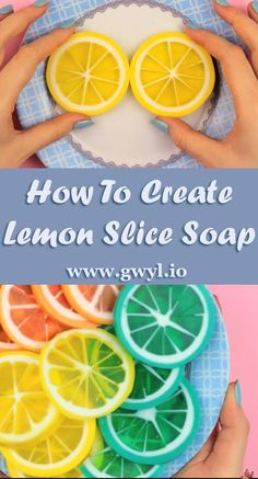 How To Create Lemon Slice Soap | We are head over heals in love with these homemade soaps shaped like lemons slices. They look like a million bucks and smell great! | Video tutorial here ---> http://gwyl.io/create-lemon-slice-soap/