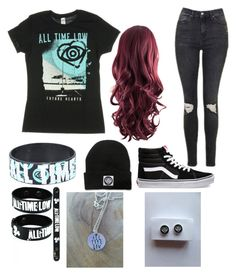 """""""All Time Low"""" by meckensylou on Polyvore featuring Vans and Topshop"""