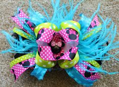 Minnie Mouse Over the Top Bow. $15.00, via Etsy.     http://www.etsy.com/listing/123112664/minnie-mouse-over-the-top-bow?