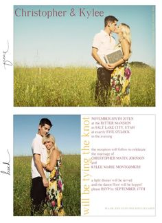 wedding announcement from Ruffled ink. designs