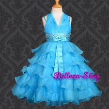 Pageant Flower Girl Party Formal Occasion Tulle Dresses Size 6month 8 FG012