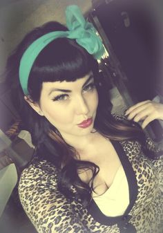 Bettie Bangs Vintage Scarf