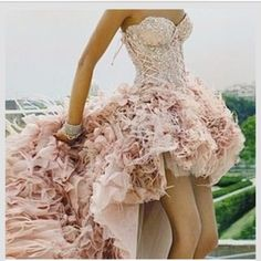 corset high low wedding dress - Google Search