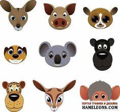 Животные - стикеры, иконки, картинки - большая коллекция в векторе | Funny kids animals
