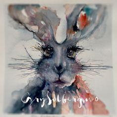 Mr Rabbit  Watercolor Grysolberg.no