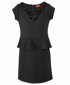 Ruby Rox Kids Dress, Girls Peplum Dress - Kids Girls Dresses - Macy's