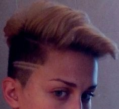 #Blondy #haircut #shaved #lines