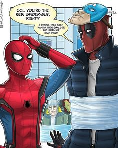 Deadpool!! Of course he's one of the robbers!! By:@art_of_twinsvega