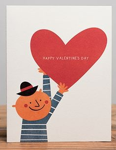 Man With Heart | Red Cap Cards #valentine #hearts #love #valentinesday