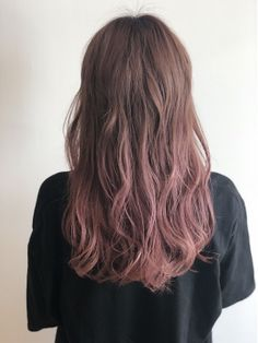 Cool Blonde Hair Colour, Hair Color Pink, Hair Dye Colors, Lip Colors, Brown And Pink Hair, Brown Hair Shades, Curly Hair With Bangs, Curls For Long Hair, Hair Streaks