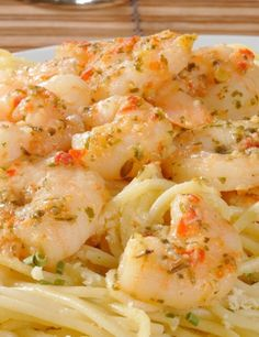 Ingredients  1 (16 ounce) package linguine pasta 2 tablespoons butter 2 tablespoons extra-virgin olive oil 2 shallots, finely diced 2 cloves garlic, minced 1 pinch red pepper flakes (optional) 1 pound shrimp, peeled and deveined