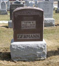Tombstone Tuesday–Jacob B. Germann #genealogy