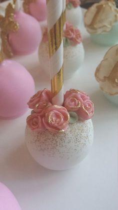 Garden Themed Cake Pops Flower Cake Pops Baby by SweetSetups (Christmas Bake Truffles) Pretty Cakes, Cute Cakes, Beautiful Cakes, Cake Cookies, Cupcake Cakes, Flower Cake Pops, Garden Party Cakes, Gateau Baby Shower, Wedding Cake Pops