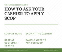 Learn How to ask for SCOP to be applied  (The Scanning Code of Practice) Included is a Sample Scenario at the Cash register and Ways you can ask for it to be applied since they won't tell you about it if they offer it.