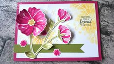 Simply Sketched Saturday Challenge – Bunch Of Blossoms Friend Card | Helen Griffin UK