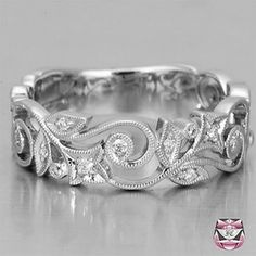 Buy Exquisite Charm Women's 925 Sterling Silver Floral Ring Diamond Flower Lucky Vine Leaf Cocktail Jewelry Proposal Gift Rings Bridal Wedding Band Size 6 7 8 9 10 at Wish - Shopping Made Fun Jewelry Rings, Jewelery, Jewelry Accessories, Gemstone Jewelry, Flower Jewelry, Gold Jewelry, Gold Bangles, Bridal Accessories, Antique Jewelry