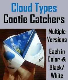 These clouds cootie catchers are a great way for students to have fun while learning about the different types of clouds. It's a great visual for ELLs to use. Science Resources, Science Lessons, Teaching Science, Science Projects, Science Activities, Science Ideas, Apologia Physical Science, Cloud Type, Electromagnetic Spectrum