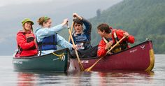 Family Canoeing in the Great Glen