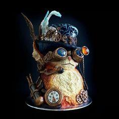 Steampunk cat cake!