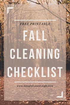 fall cleaning checkl