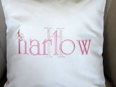 PERSONALIZED NAME pillow cover baby pillow by letsdecorateonline, $27.90