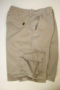 Billabong Embroidered Tan Cargo Shorts (Men's 34) DJ603 M213JNOL Zipper Fly 2749 #Billabong #CargoShorts @Billabong