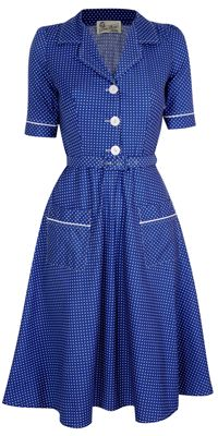 40's/50's dress-- Boy howdy, is this cute or what?!