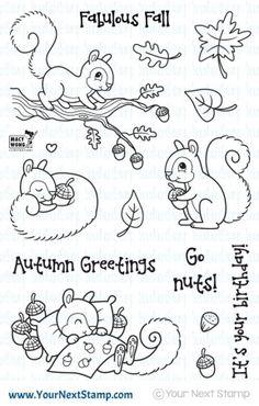 Sandy Squirrel - Autumn Greetings