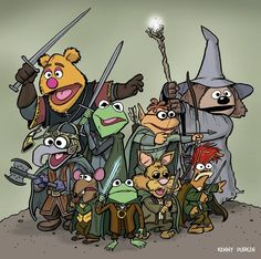 Artist Kenny Durkin reimagines the Muppets starring in less-than-kid-friendly movies, including Lord of the Rings, Jaws and The Big Lebowski.