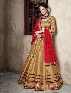 Beige Banglori Silk Wedding Lehenga Choli 59695