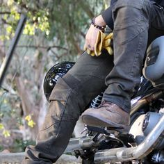 uglyBROS Motorpool Motorcycle Trousers - Stained Olive | Motorcycle Trousers…