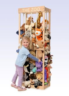 The Zoo is a new soft toy storage system that lets children keep their soft toys and furry friends safely and securely. Experts predict that the Zoo could put an end to hoards of soft toys...