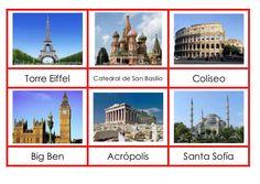 Tarjetas de monumentos de europa