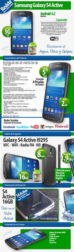 Samsung Galaxy S4 Active. Cliente Global Comercios. Elaborado por iGrafi