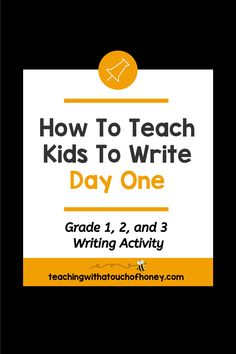 Get your kids writing with fun, engaging activities. These ideas are perfect if you are a parent trying to get your child to write at home or a teacher working in the classroom or through distance learning, Teaching Kids To Write, How To Teach Kids, Teaching Writing, Writing Activities, Writing Lesson Plans, Writing Lessons, Kids Writing, Second Grade, Grade 1