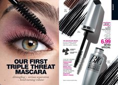 NEW! in Campaign #10. Big and Multiplied Volume Mascara. This triple threat mascara is detangling + serious separation + head turning volume. Intro Price $6.99 lindasbeautyforyou.com #avonrep