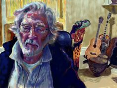 'David' Skype painting, Somerset, England 2015